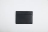 luxury italian vegetable tanned leather card holder - Eldadesign, Black, elda