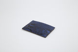 Luxury Royal Blue Genuine Python Skin Card Holder - Eldadesign
