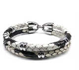 Python Skin Leather Bracelet - Eldadesign, , elda