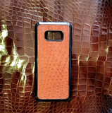 Genuine Ostrich Leather iPhone X/XS, Samsung Cover - Eldadesign
