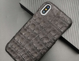 Genuine Caiman Crocodile skin Phone Case - Eldadesign