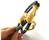 The Scorpion Collection Genuine Stingray Leather 18k Gold plated Stainless Steel - Eldadesign
