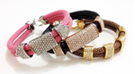 New Arrival Genuine Stingray Leather crystal bracelet for men and women - Eldadesign