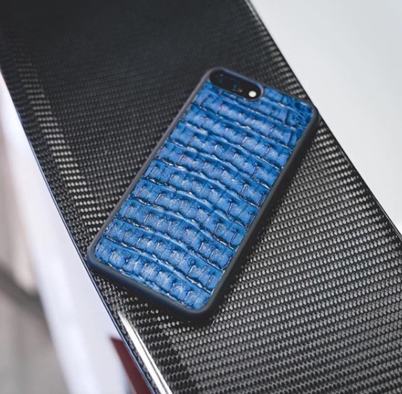 Luxury Genuine Crocodile Skin iPhone X/XS/Max Samsung Case Black, Brown or Blue.  Belly, back or tail