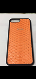 Limited Edition Orange Python for iPhone and Samsung - Eldadesign