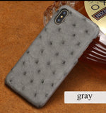 Genuine Ostrich Leather iPhone X/XS,11/pro, Samsung Cover