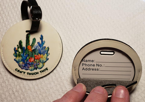 Round Leather Luggage Tags - Not Restocking - Below what I paid
