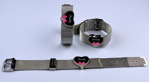 2 heart sublimation bracelet
