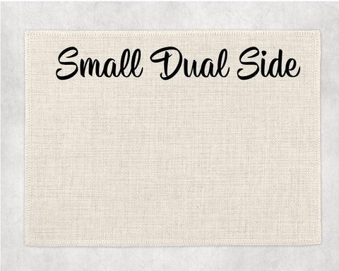 Small Linen Placemat - Dual Sided