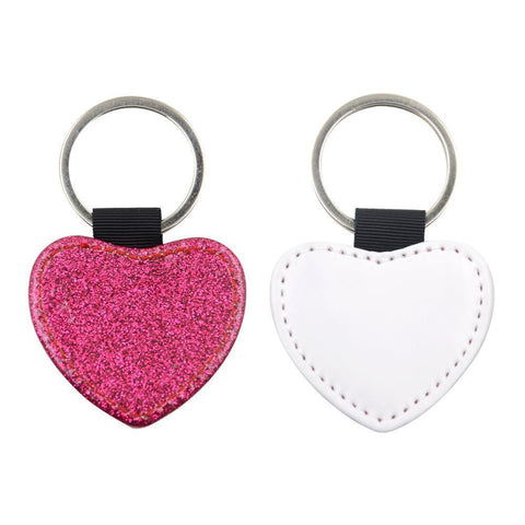 Rose Red Heart PU Glitter Keychain - Not Restocking unless Exact Buy In