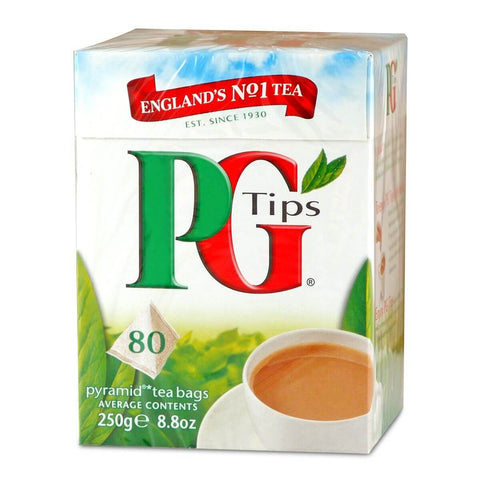 PG Tips Tea - Original Medium Box (Pack of 80 Pyramid Tea Bags) (CASE of 6 x 232g)