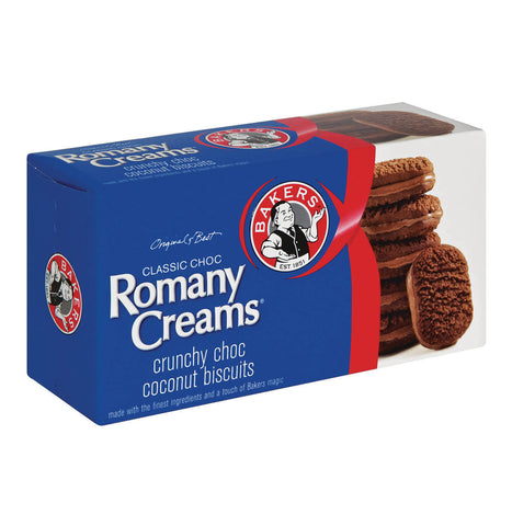 Bakers Romany Creams - Classic Choc Biscuits (Kosher) (CASE of 12 x 200g)