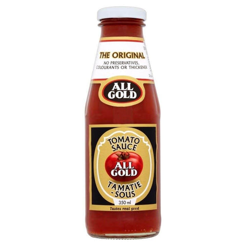 All Gold Tomato Sauce Glass Bottle (Kosher) (CASE of 6 x 350ml)