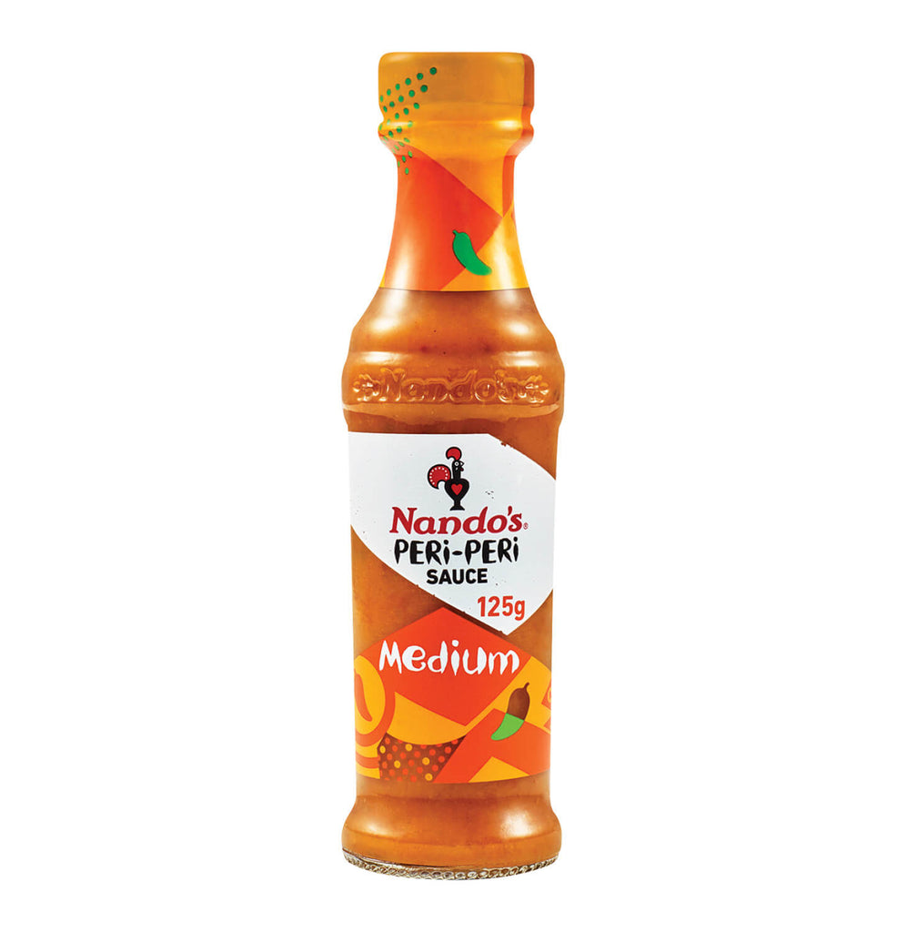 Nandos Peri Peri Sauce - Medium Small Bottle (Kosher) (CASE of 6 x 132g)