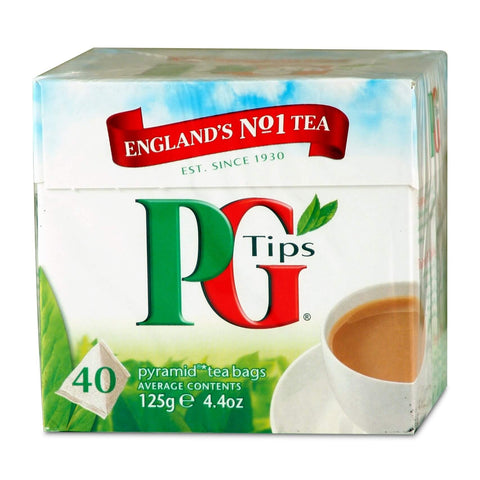 PG Tips Tea - Original Small Box (Pack of 40 Pyramid Tea Bags) (CASE of 6 x 116g)