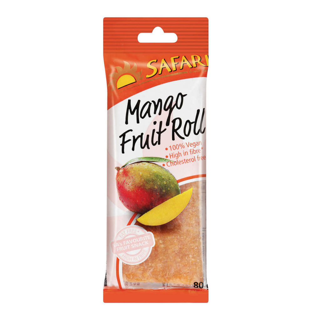 Safari Fruit Roll - Mango (CASE of 25 x 80g)