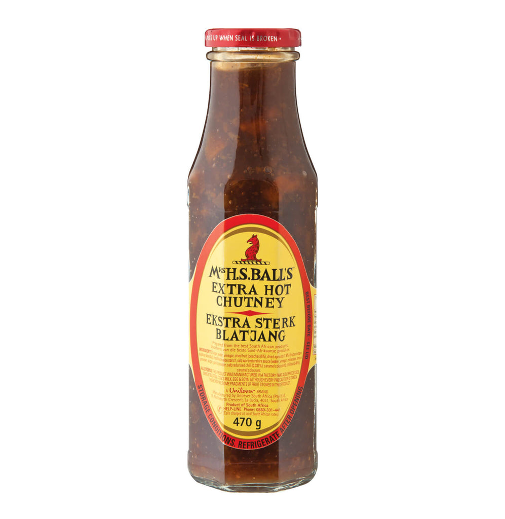 Mrs Balls Extra Hot Chutney (CASE of 8 x 470g)
