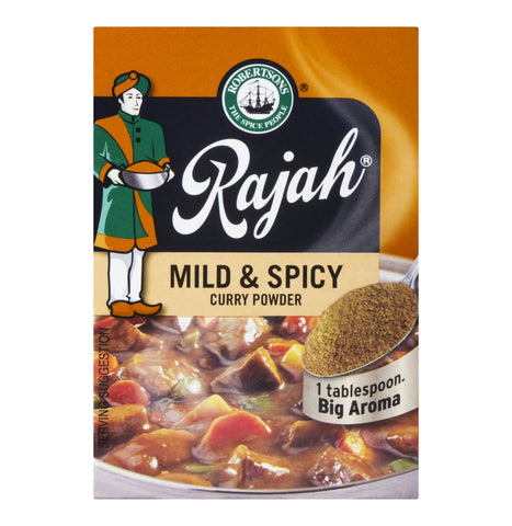 Robertsons Rajah Curry Powder - Mild and Spicy  (CASE of 10 x 100g)