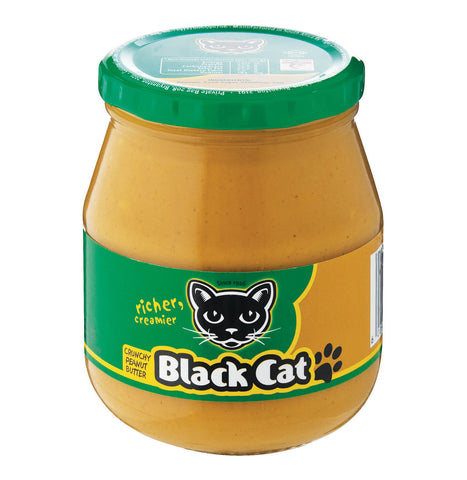 Black Cat Peanut Butter - Crunchy with Green Label (Kosher) (CASE of 12 x 400g)