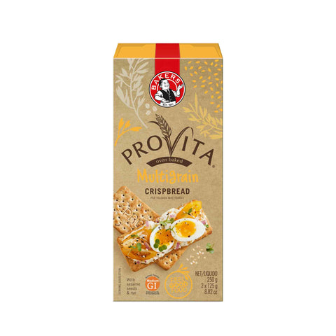 Bakers (Pyotts) Provita Multigrain Crispbread (Kosher) (CASE of 12 x 250g)
