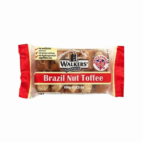 Walkers Nonsuch Brazil Nut Toffee Bar (CASE of 12 x 100g)