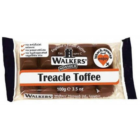 Walkers Toffee - Treacle Bar (CASE of 10 x 100g)