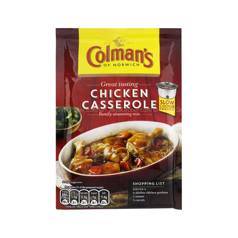 Colmans Seasoning Mix - Chicken Casserole  (CASE of 16 x 40g)