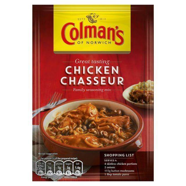 Colmans Seasoning Mix - Chicken Chasseur (CASE of 10 x 43g)