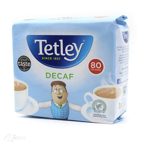Tetley Tea - Decaf (Pack of 80 Tea Bags) (CASE of 12 x 250g)
