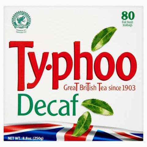 Typhoo Tea - Decaf (Pack of 80 Tea Bags) (CASE of 6 x 232g)
