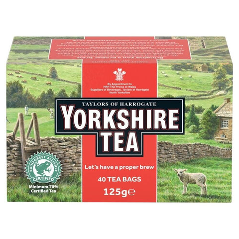 Yorkshire Tea - Red (Pack of 40 Tea Bags) (CASE of 5 x 125g)