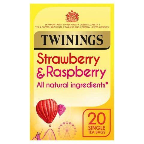 Twinings Tea - Strawberry and Raspberry (Pack of 20 Tea Bags) (CASE of 4 x 40g)