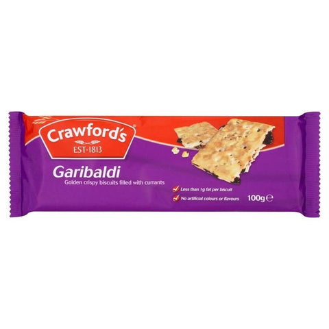 McVities Crawford Garibaldi Biscuits (CASE of 12 x 100g)