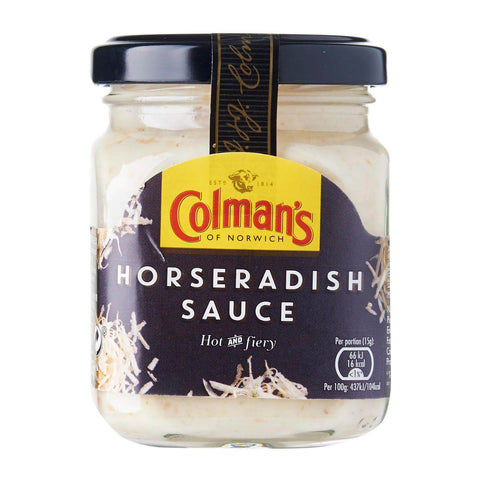 Colmans Horseradish Sauce Hot and Fiery (CASE of 8 x 136g)