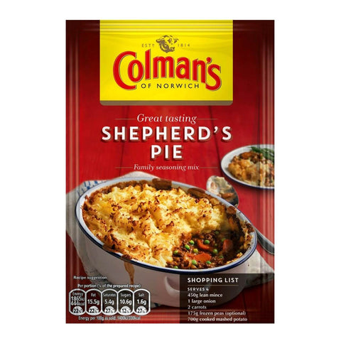 Colmans Shepherds Pie Seasoning Mix (CASE of 16 x 50g)