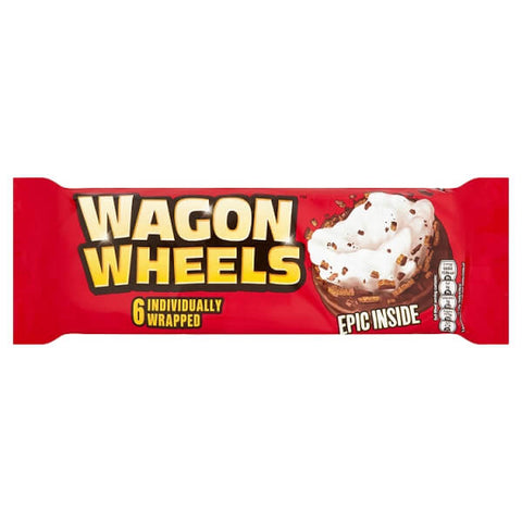 Burtons Wagon Wheels (Pack of 6 Biscuits) (CASE of 16 x 220g)