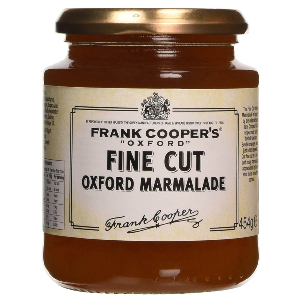 Frank Coopers Marmalade - Fine Cut Oxford  (CASE of 6 x 454g)