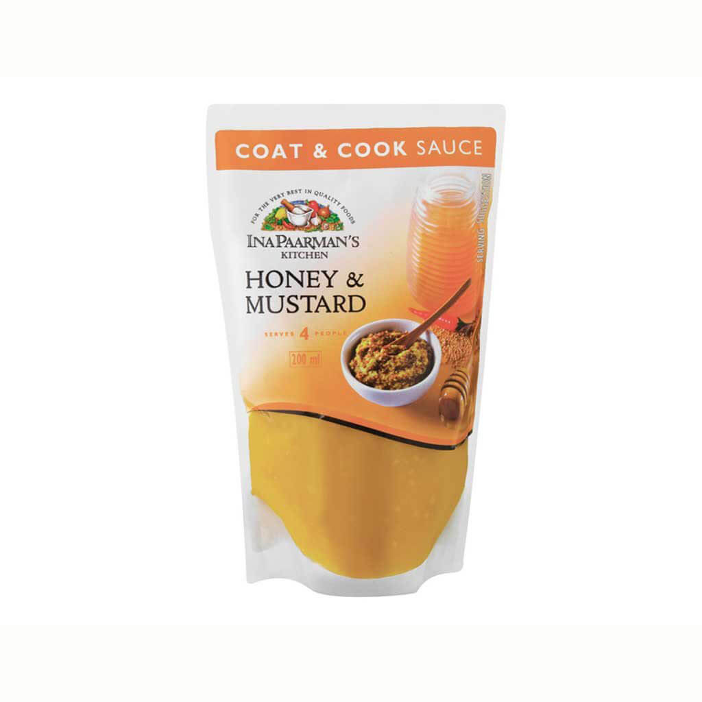Ina Paarman Honey Mustard Coat and Cook Sauce (Kosher) (CASE of 12 x 200ml)