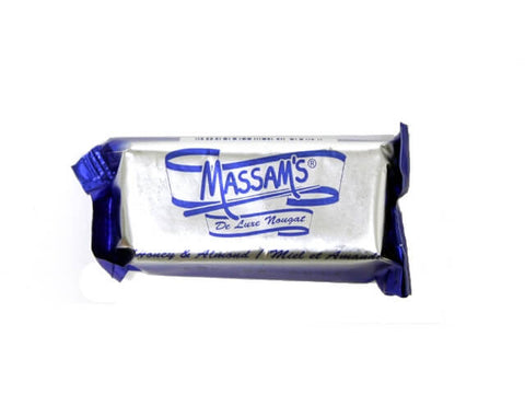 Massams Nougat - Honey Almond Bar (Kosher) (CASE of 48 x 25g)