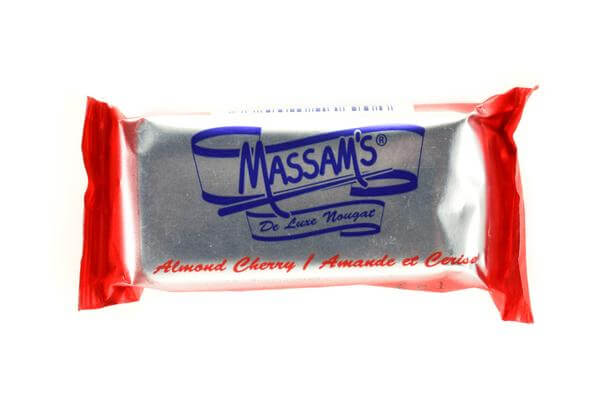 Massams Almond Cherry Nougat Bar (Kosher) (CASE of 48 x 25g)