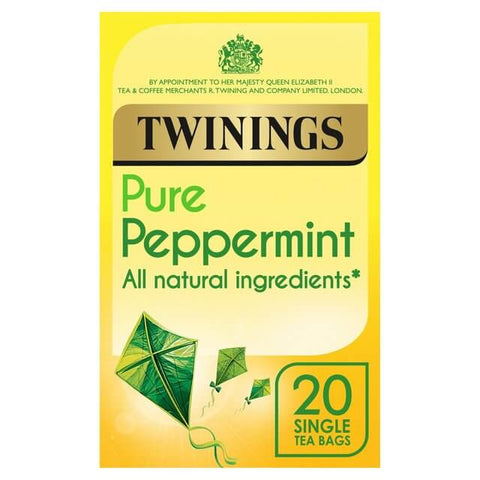 Twinings Tea -  Peppermint Pure (Pack of 20 Tea Bags) (CASE of 4 x 40g)