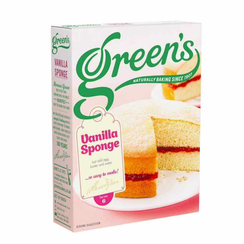 Greens Vanilla Sponge Mix (CASE of 6 x 221g)