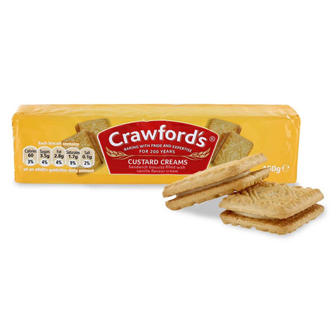 McVities Crawford Custard Cream Biscuits (CASE of 12 x 150g)