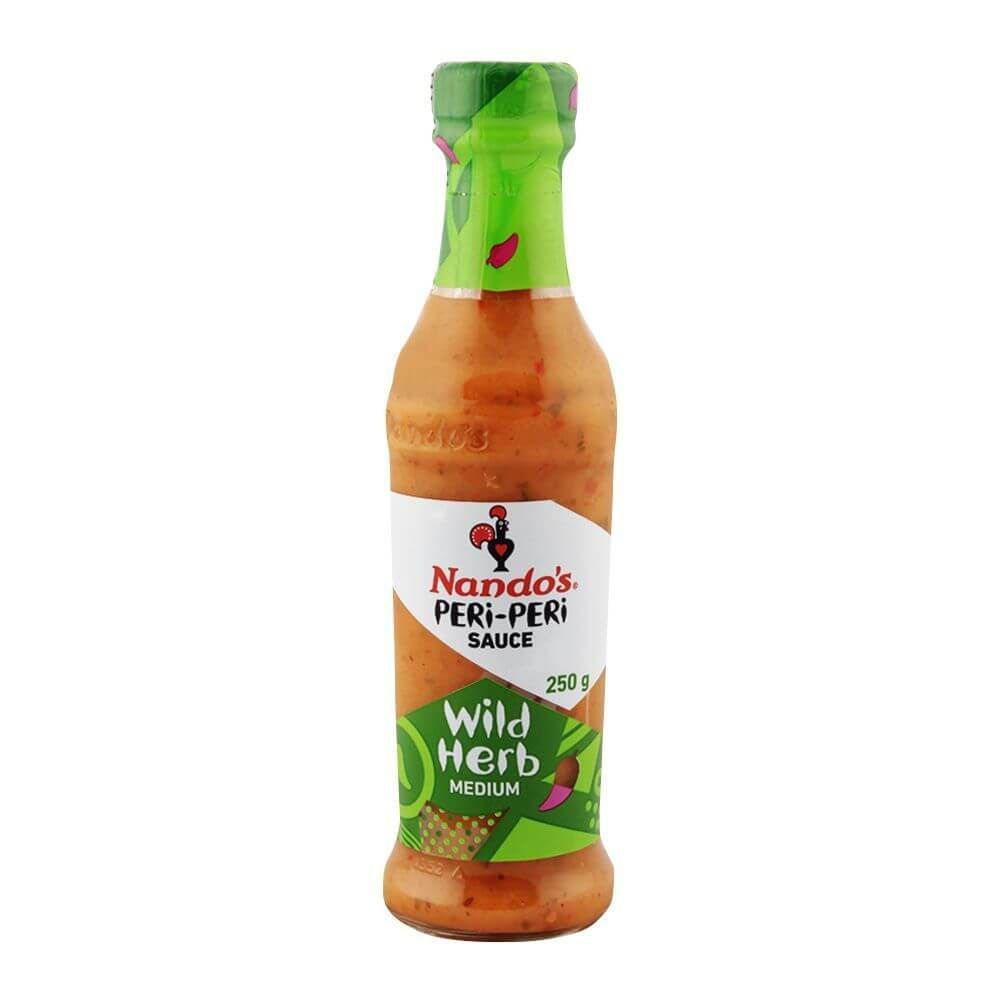 Nandos Peri Peri Sauce - Wild Herb Large Bottle (Kosher) (CASE of 6 x 250g)