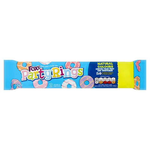 Foxs Biscuits - Party Rings Biscuits (CASE of 16 x 125g)