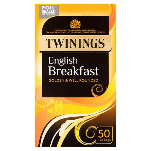 Twinings Tea - English Breakfast (Pack of 50 Tea Bags) (CASE of 4 x 125g)
