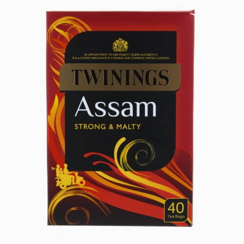 Twinings Assam Tea Bags (Pack of 40) (CASE of 4 x 100g)