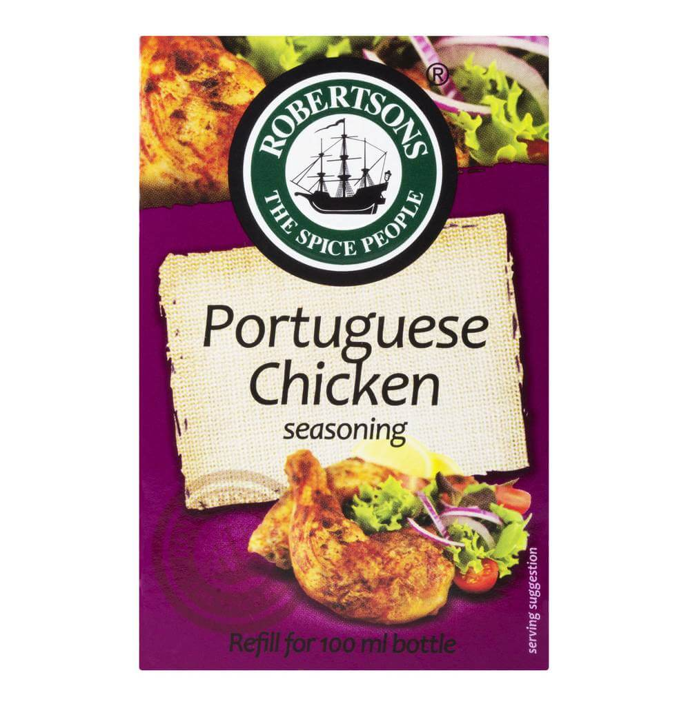 Robertsons Spice - Portuguese Chicken Seasoning Refill Box (CASE of 10 x 75g)