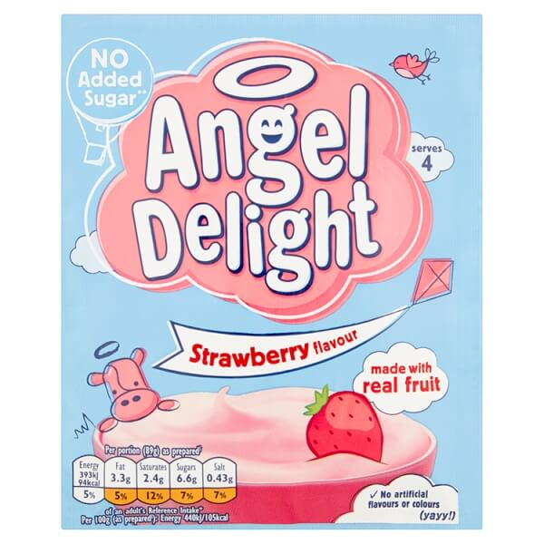 Birds Angel Delight - Strawberry Flavour (CASE of 21 x 59g)