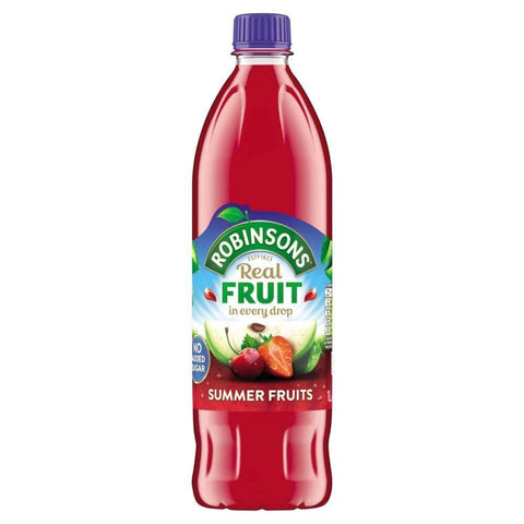 Robinsons Squash - Summer Fruits No Added Sugar (CASE of 12 x 1L)